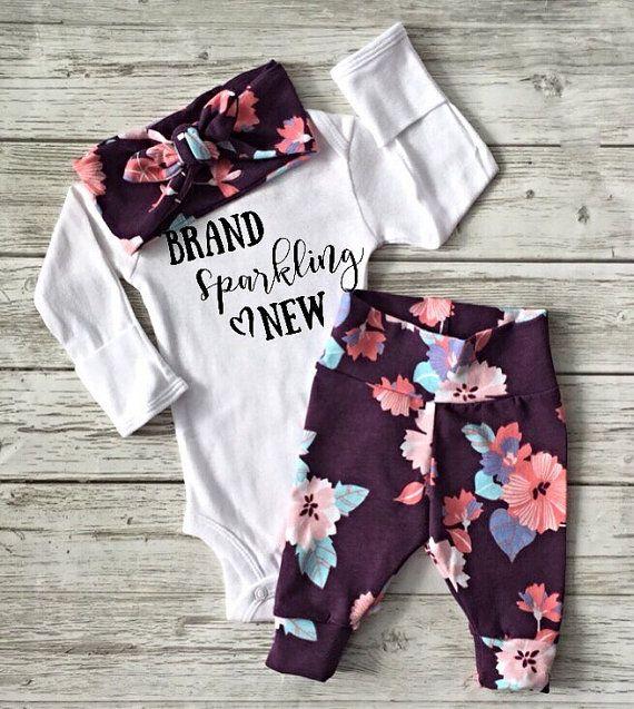 baby girl coming home outfit baby leggings baby by EatSleepDrool