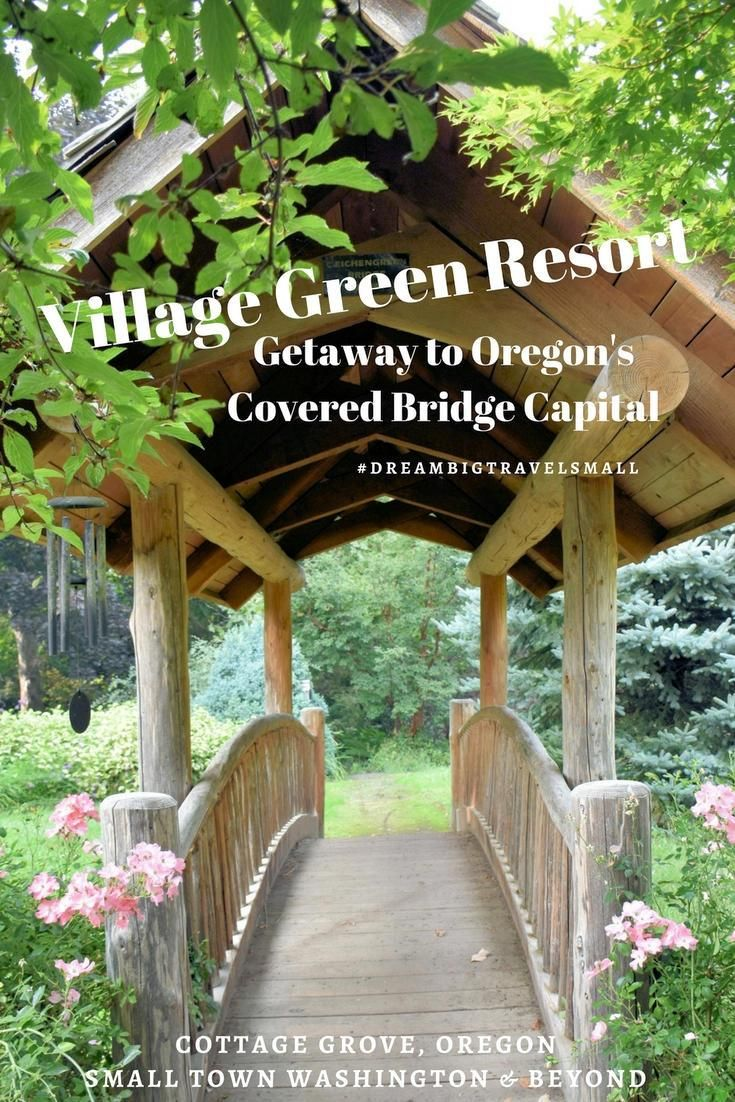 Looking for a unique place to stay in Oregon's covered bridge capital of Cottage Grove? Village Green Resort is close to it all and has all the amenities, including a outdoor pool and 14 acre garden.