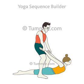 locust pose legs on floor partner yoga salabhasana legs