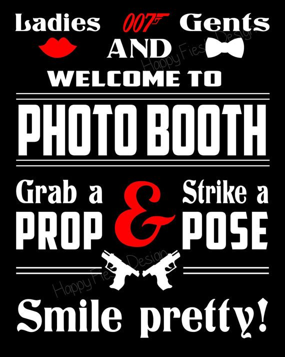 James Bond Photo Booth Props 41 Pieces 34 by HappyFiestaDesign