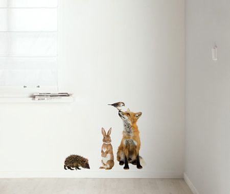 Minimalist and modernist parents will probably love the the realism of these Forest Friends decals by Kek Amsterdam.