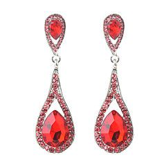 65a9bbde6 Women's Crystal Long Drop Earrings - Rhinestone Drop Ladies, Vintage,  Ethnic, Fashion Jewelry Yellow / Red / Blue For Wedding Evening Party  Masquerade ...