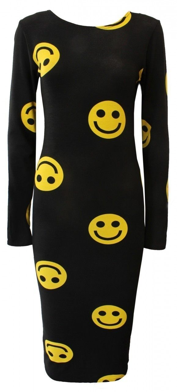 Smiley Faces Print Bodycon 2013 Fashion Trends <3 <3 www.shucrazy.co.uk