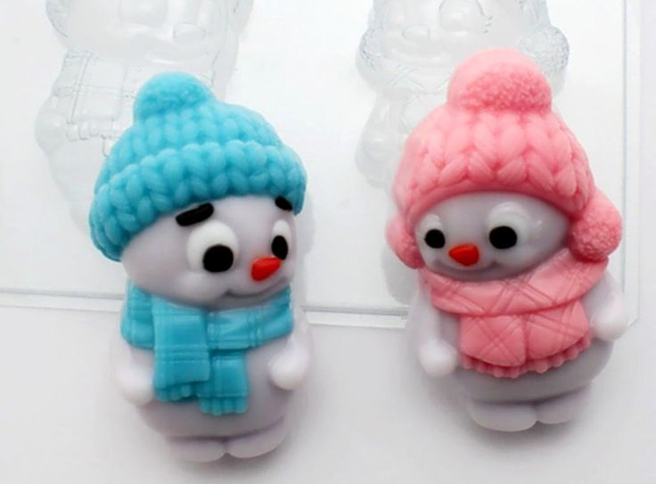 Black Friday Sale 35% Off Two snowmen Christmas mold, snowman mold, soap mold, new year mold, christmas mold, plastic mold, chocolate mold by manuartnet on Etsy