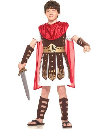 Look what I found on #zulily! Brown & Red Roman Warrior Dress-Up Outfit - Boys by Forum Novelties #zulilyfinds