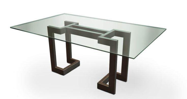 Busca imágenes de Comedor de estilo : SENDAI – Mesa moderna (tablero de vidrio). Encuentra las mejores fotos para inspirarte y crea tu hogar perfecto.