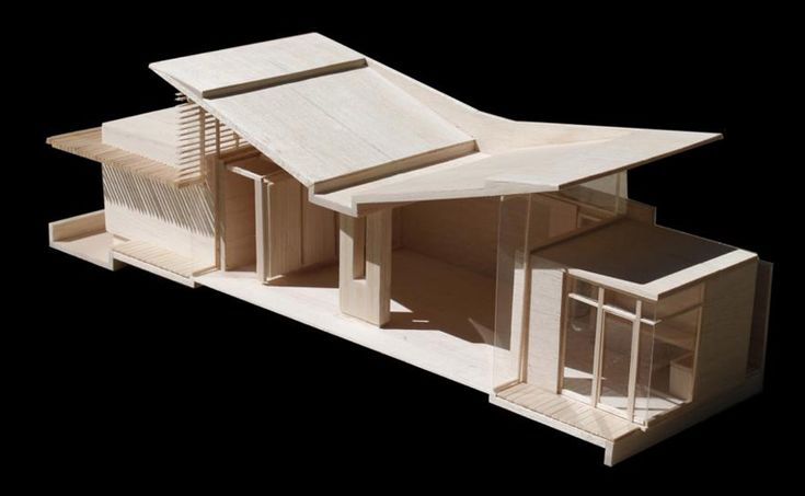 model of butterfly roof