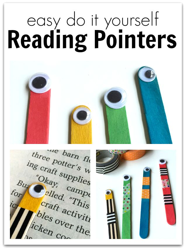 Easy DIY Reading Pointers! A great activity to make for beginner readers to keep track!