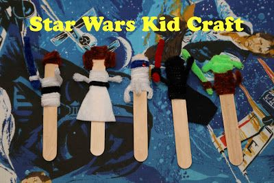 Star Wars Kid Craft: May the Fourth be with you!  An easy craft using large popsicle sticks and pipe cleaners!