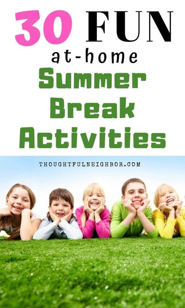 30 Fun Summer Activities At Home For Kids
