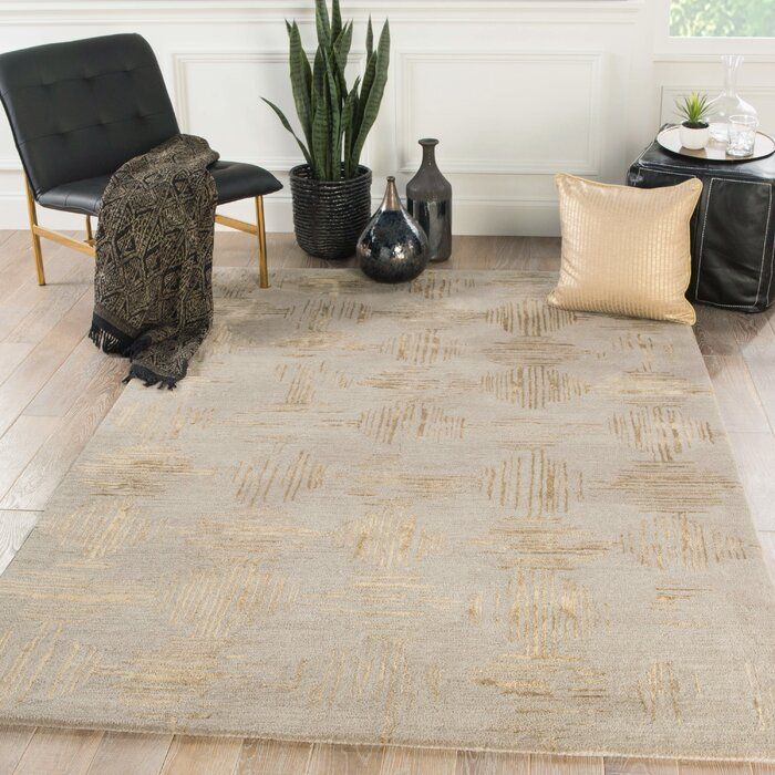 Kneeland Geometric Hand Tufted Wool Taupe Gold Area Rug Reviews Joss Main Area Rugs Living Rugs Jaipur Living