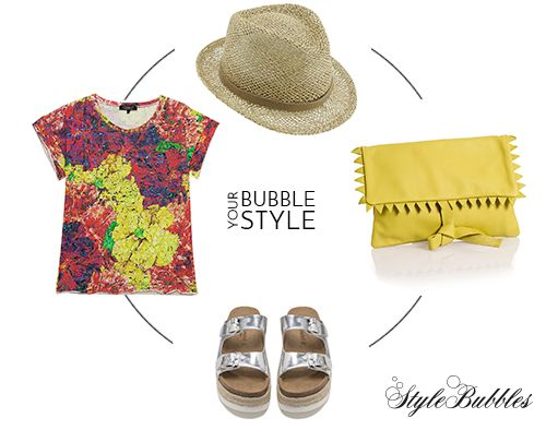 Comfort in color! Play with floral prints and accessories and cease your days! #StyleBubbles #BubbleYourStyle #fashiondetails #onlineshopping