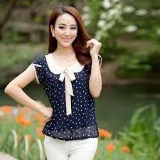 Resultado de imagen para blusas bonitas y elegantes de chifon                                                                                                                                                                                 Más