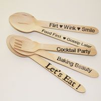 wooden spoons, wholesale, ice cream spoons, words, sayings, fun, dessert spoons, wood spoons, disposable, party,