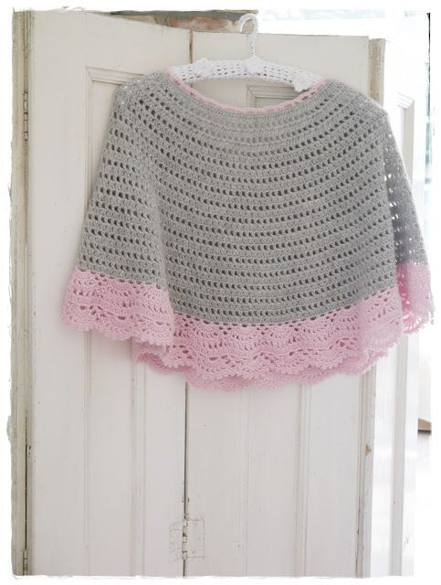 Crochet poncho made by Versponnenes. Free Drops pattern at ...