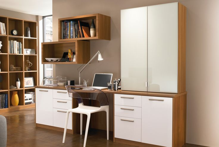 cream and brown home office furniture create stylish and simple work areas
