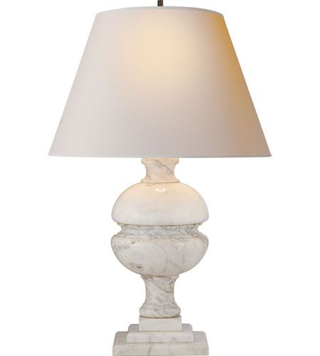 Visual Comfort AH3100WM-NP Alexa Hampton Desmond 26 inch 150 watt White Marble Decorative Table Lamp Portable Light