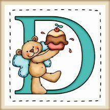 """calamita quadrata in legno di frassino """"L'alfabeto degli orsetti lettera D"""" bordo in legno naturale, idea regalo, artigianato italiano, made in Italy, con frase scritta, spiritosa, fuori stanza, appendi porta, fuori porta, tavola country, 5,5 cm x 5,5 cm"""