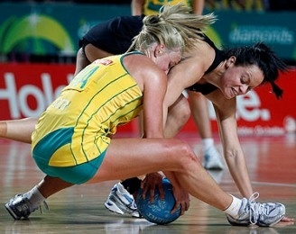 and..... netball is a non-contact sport!!!