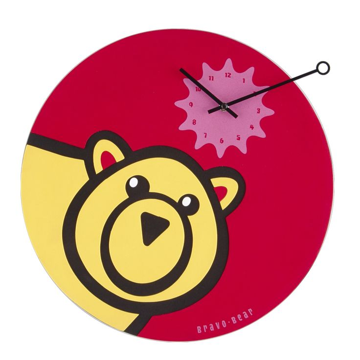 Zegar dziecięcy Bravo Bear - NEXTIME - DECO Salon. Bravo bear will be a perfect complement to a child's room - will appeal to both boy and girl. #giftidea #forkids #dladzieci #clock
