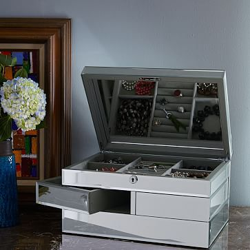 Grand Mirrored Jewelry Box #westelm $229 (special $137)