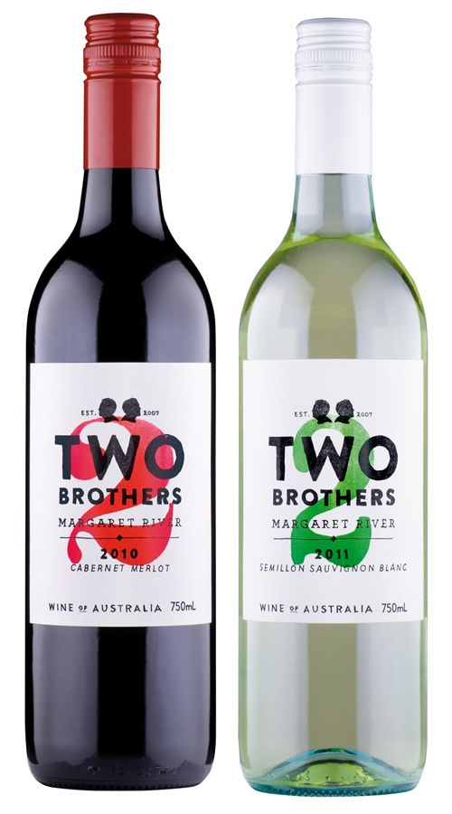 Two Brothers #wine label by Studio Bomba