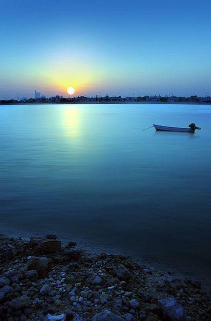 Sunrise in Bahrain   Good morning <3