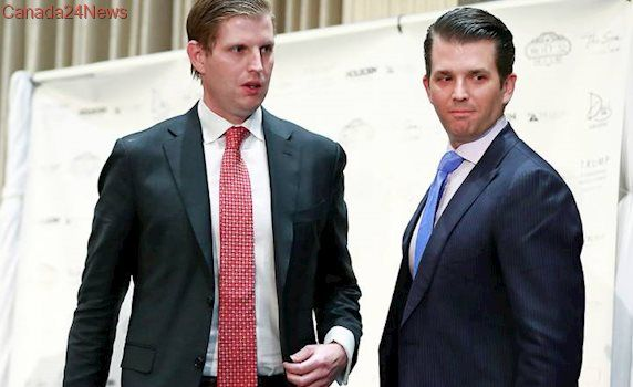 Donald Trump Jr., Eric Trump defend father over Kathy Griffin incident, alleged Russia ties
