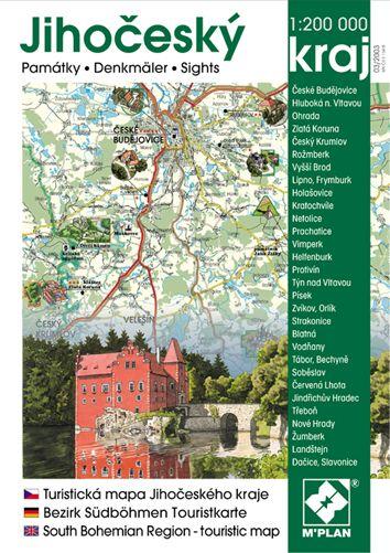 Obrazová mapa a průvodce nakladatelství M´PLAN - Jihočeský kraj