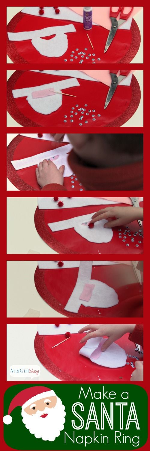 Easy Crafts for Kids: Felt Santa Napkin Rings