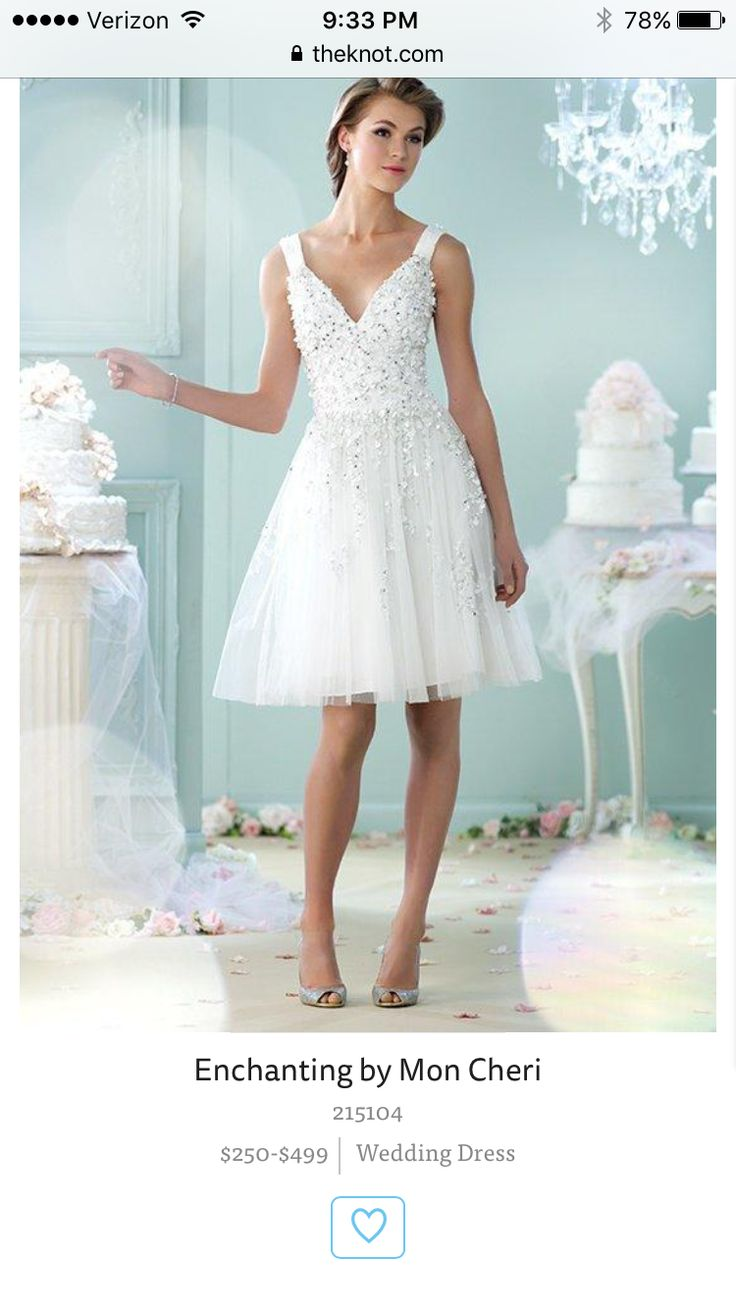 70 best Wedding Dresses images on Pinterest | Short wedding gowns ...