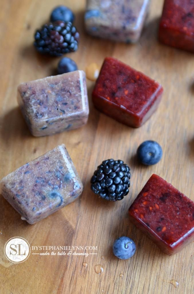 Blueberry Blackberry Ice Cube Recipe - for all natural flavored water
