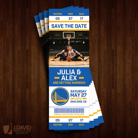 Golden State Warriors Save the Date Ticket