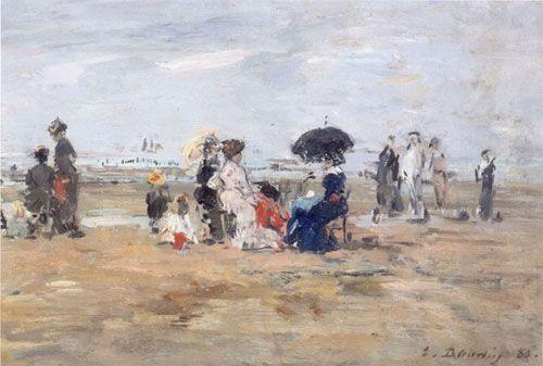 Eugène Boudin, Scène de plage à Trouville-sur-Mer Non Finito