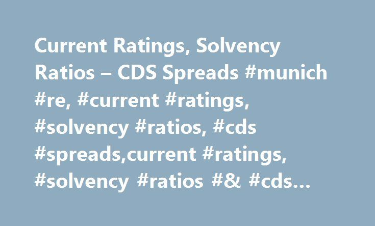 Current Ratings, Solvency Ratios – CDS Spreads #munich #re, #current #ratings, #solvency #ratios, #cds #spreads,current #ratings, #solvency #ratios #& #cds #spreads http://fiji.remmont.com/current-ratings-solvency-ratios-cds-spreads-munich-re-current-ratings-solvency-ratios-cds-spreadscurrent-ratings-solvency-ratios-cds-spreads/  # Current Ratings, Solvency Ratios CDS Spreads * Best's Rating Reports reproduced on this site appear under licence from A.M. Best Company and do not constitute…