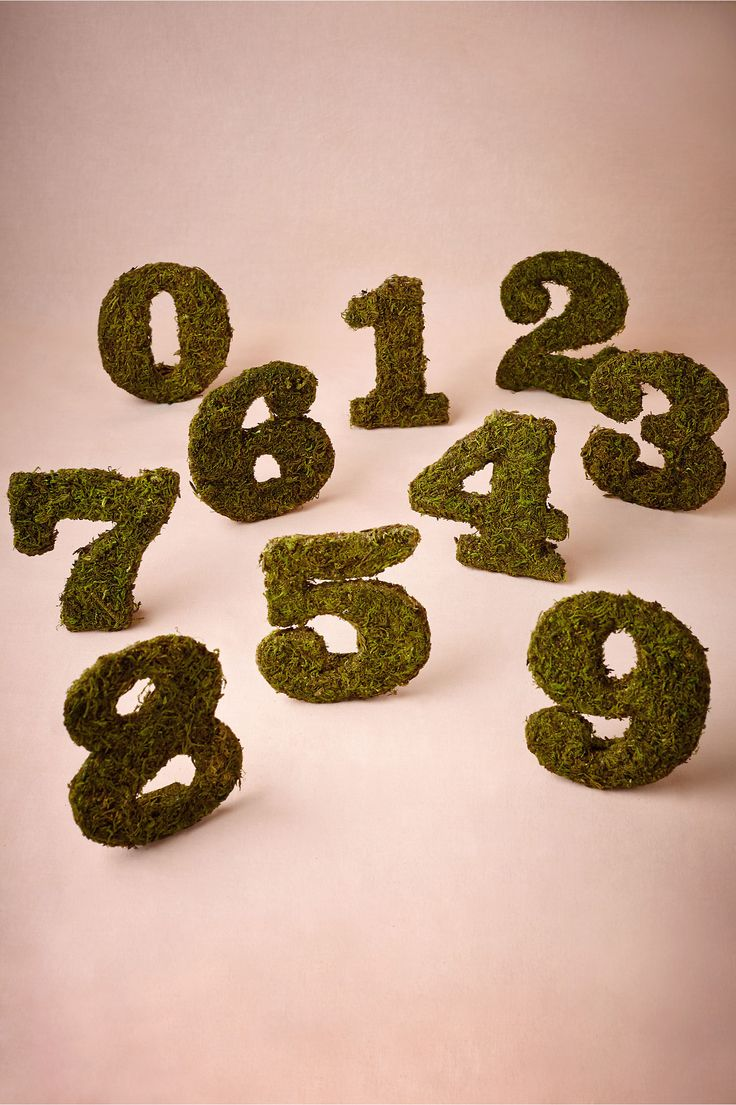 Moss table numbers from bhldn diy cover numbers with for Table 52 number