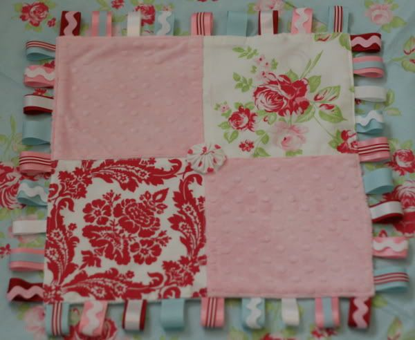 Ribbon Baby Teething Blanket- great way to use my extra ribbon and fabric up!