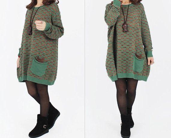 women cotton sweater dress knitwear sweater large by cottondress23