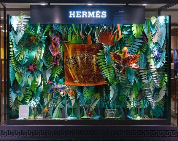 Borja: escaparate Hermes jungla