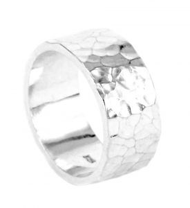 Hammered ring in sterling silver - $340