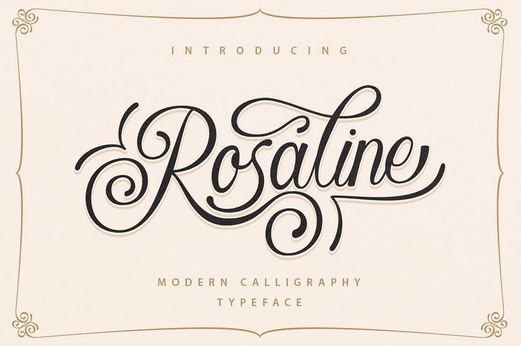 Rosaline is a luxurious calligraphy font. This is the kind of font that you will keep using over and over again.
