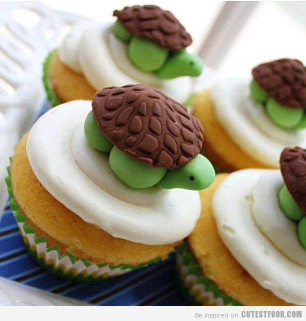 Cute Turtle Cupcake
