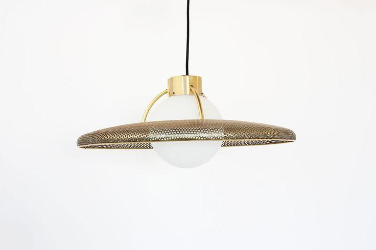 Brass ceiling light 1950