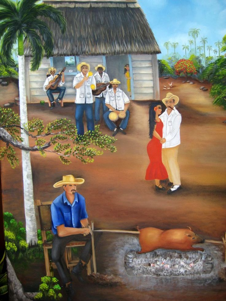 """REDUCE PRICE Fine Art : Oil Paintings on Canvas 16""""x24"""" -""""Guateque""""- . Five Art to Choose - $156.00 USD"""