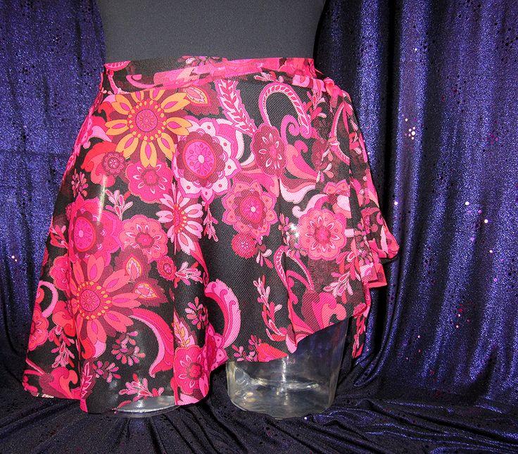 The Firebird: ballet wrap skirt.  Soft semi-sheer mesh; wrap-around with asymmetrical hem.