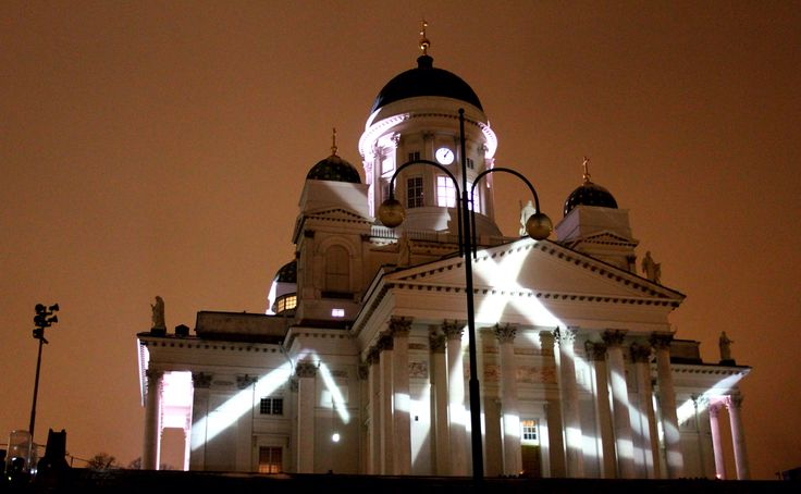LuxHelsinki Cathedral lights, art