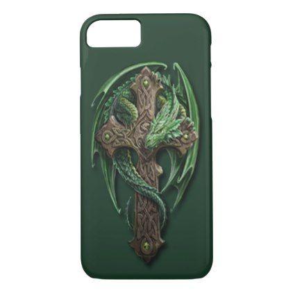 Cool Celtic Tribal Cross Dragon Tattoo Art Design iPhone 8/7 Case - classy gifts custom diy personalize