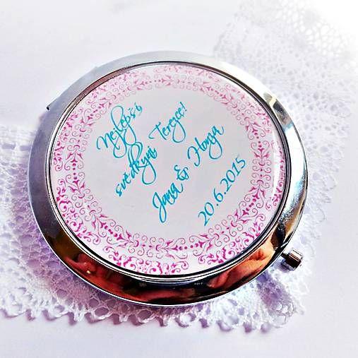 svadobné zrkadielko s ornamentom - text na želanie