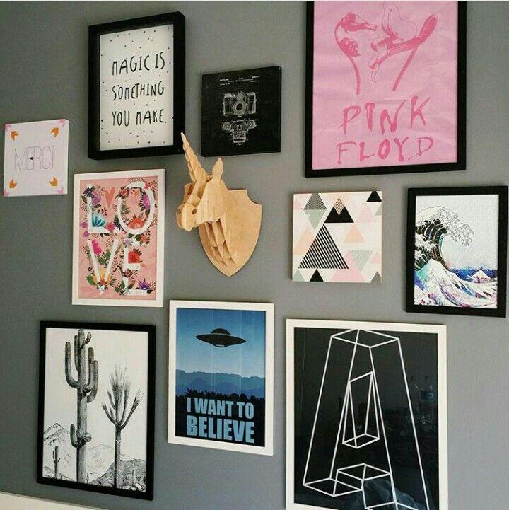 Decoration by Giovanna Ferrarezi #decor #home #quadros  ~ Quarto Personalizado Tumblr