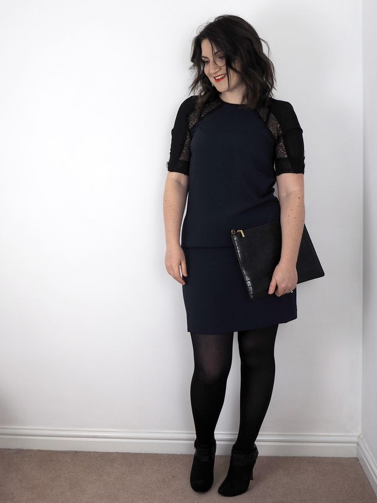 Keep things simple for the office Christmas party, just add heels to your favourite dress and grab a clutch bag